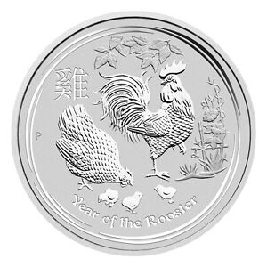 1/2 oz Pièce Argent Coq Silver Perth Mint Year Rooster Coin 2017