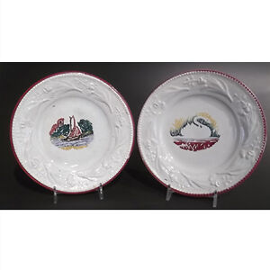 Pair of Antique English Child's Plates