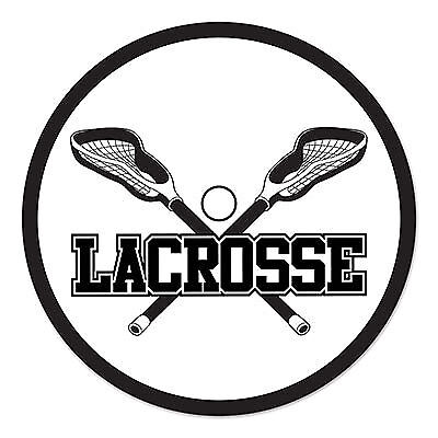 Lacrosse Cutout - White/Black (Lacrosse Decorations)