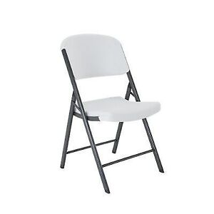Lifetime Folding Chair (SET OF 4) + Fold in Half Round Table