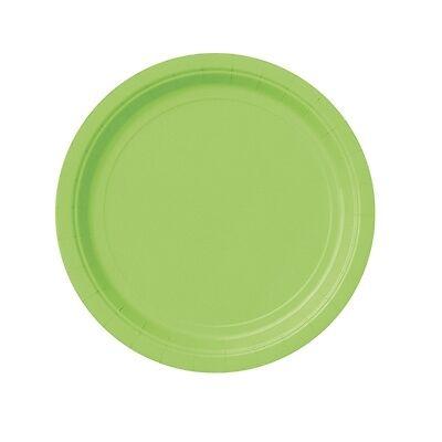 Grasgrüne Partyteller, Pappteller-Einwegteller grün, 8er Pack, d=18cm