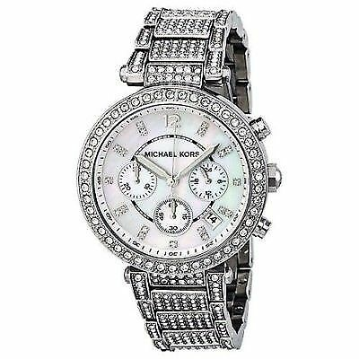 Michael Kors Women's 'Parker' Silver Super Glitz Watch - MK5572 39mm