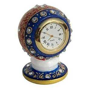 Decorative Excl.HANDCRAFTED ART Marble Table & Cellphon Clock