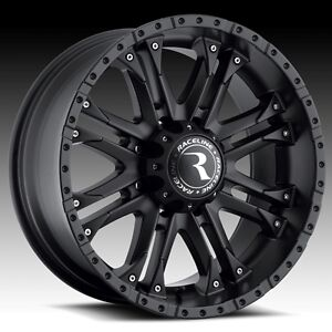 20 inch black raceline octane 996 wheels rims gmc sierra denali 2500 hd 8x180 ebay. Black Bedroom Furniture Sets. Home Design Ideas