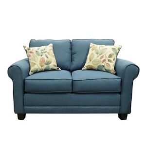 small love seat, 1month old bought at Teppermans-Dinem blue