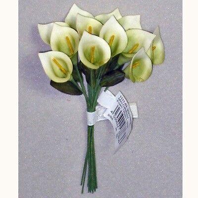 12 x Calla L 25cm Kunstblume künstliche Blumen grün creme