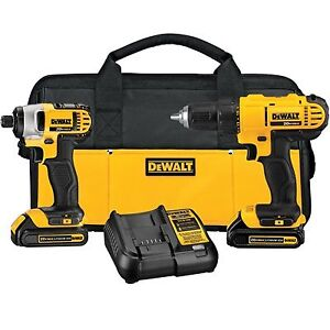 DEWALT 20VMAX Lithium-Ion Cordless Drill/Driver and Impact Combo