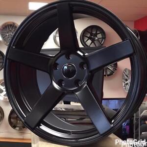 @905 673 2828 19x9 5x114.3 +40 CONCAVE Satin Black Rim Rims Wheels Honda Accord Mazda 3 Hyundai (4New wheels $699 CASH