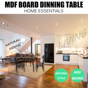Dinning Table 4 Chairs Metal Frame Dark Brown Melbourne CBD Melbourne City Preview
