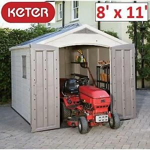NEW* KETER 8x11 STORAGE SHED 211203 251419844 FACTOR PLASTIC OUTDOOR