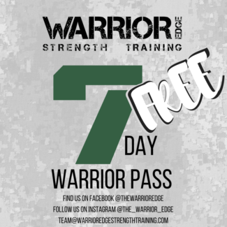 Free PT For 1 week (Warrior Edge Strength Training)