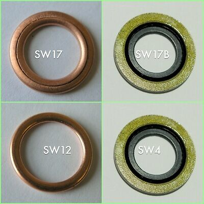 Change from crushable to bonded seal washers.