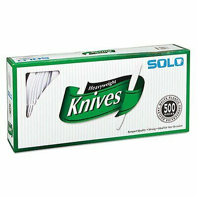 Solo Plastic Knives Cutlery Heavyweight Disposable Plastic Knife Ware White Bulk - $25.41
