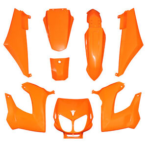 kit carenage derbi couleur orange 8 coques senda xrace xtrem drd ebay. Black Bedroom Furniture Sets. Home Design Ideas