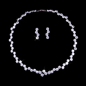 Bridal necklace earrings sets for wedding/ occasions on sale!