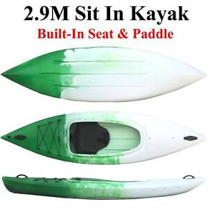 Budtrol kayak 2.9M sit in kayak single kayak seat leash paddle Riverwood Canterbury Area Preview