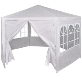 Marquee With 6 Side Walls 2x2m White