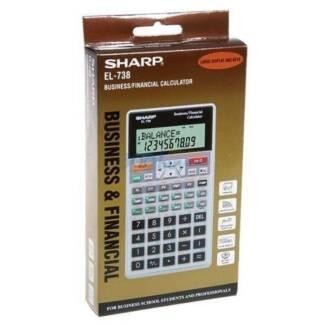 100% New Sharp EL-738 & EL-735s Business Financial Calculator   ✎