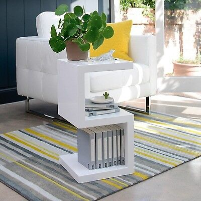 S Shaped Side Table White Or Black