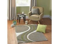 """Dunhill Mirage Beige /Lime green Rug Size 230x 160cm / 5'3"""" x 7'7"""" RRP £125 Our Price £40"""