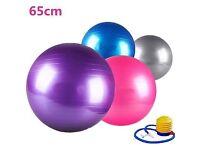 Purple yoga ball