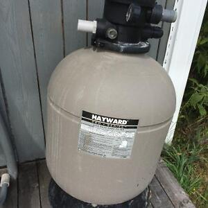 Hayward sand filter pro series with pump for Above ground pool
