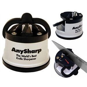 NEW CLASSIC ANY SHARP THE WORLD'S BEST KNIFE SHARPENER WITH SUCTION CUP FIXING