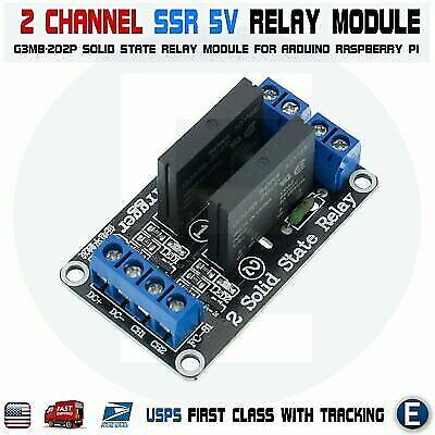 2 Channel SSR Solid State Relay Module For Arduino 5V 2A Low Level Raspberry Pi