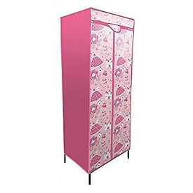 Pink Princess Canvas Storage Wardrobe