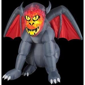 "HALLOWEEN AIRBLOWN / INFLATABLE FIRE AND ICE ""GRUESOME GARGOYLE"