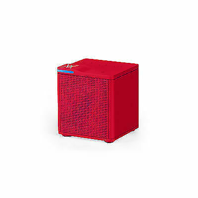 Auvio 4000706 Portable Bluetooth Cube Speaker - Red (IL/PL2-15097-4000706-UG) for sale  Shipping to India