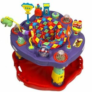 Fold-n-Go Exersaucer,3 Heights,Washable Padding,Lots of fun