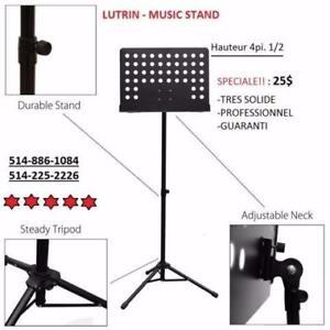 MUSIQUE REDONE - MEGA SPECIALE SUR LES LUTRIN - MUSIC STAND !!!!