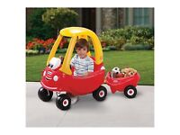 Little Tikes cosy coupe car and trailer