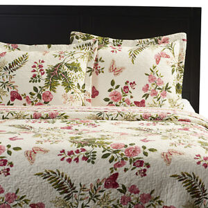 Couverture imprimé floral papillon ,Annaelle Quilt Set