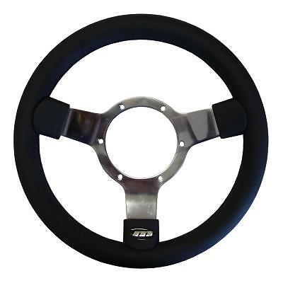 """Mountney Traditional Vinyl Steering Wheel with Polished Centre 12"""""""