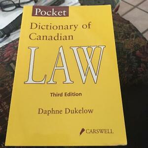 Dictionary of Canadian Law