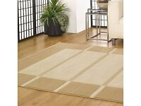 Large Beige/Cream Deep Pile Rug 200 x 290cm less than 3 months old, as new
