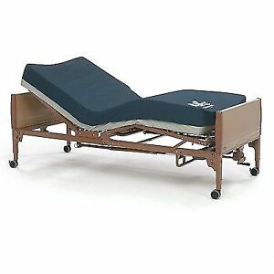Hospital Bed + Mattress + Side Rails + Table + 2 Fitted Sheets