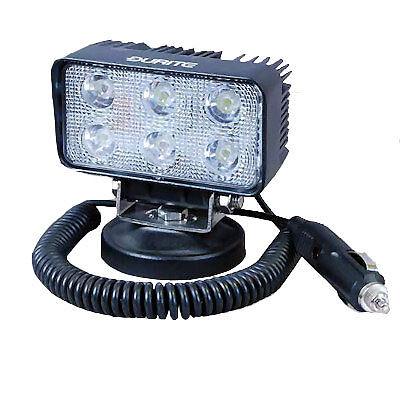 0-420-72 DURITE POWERFUL 6X3 WATT 6 LED SEARCH WORK  LAMP 12V 24V MAGNETIC BASE