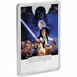2017- Silver $2 Proof Coin- 1 OZ  Star Wars Coins Return of Jedi