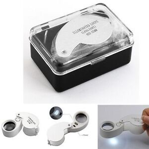 Loupe 40x power with 2 led lights and carry case