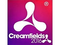 2X FOUR DAY STANDARD CREAMFIELDS CAMPING TICKETS