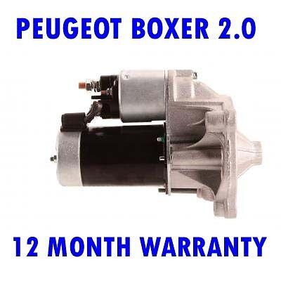 PEUGEOT BOXER 2.0 1994 1995 1996 1997 1998 1999 - 2015 STARTER MOTOR