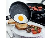 JML Regis Stone Pans 28cm. Extra Strong anti scratch. No oil needed heat induction Easy to clean