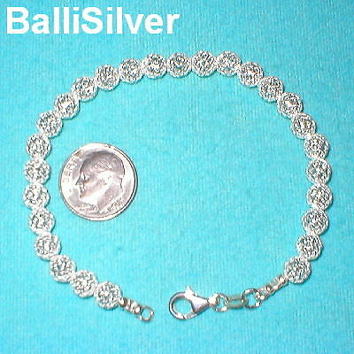 6 pieces Sterling Silver 925 6mm MESH NET BEADS Bracelets Wholesale Lot