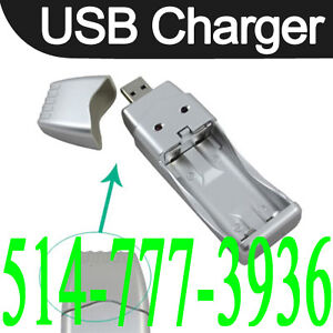 Mini Chargeur USB pour Batterie Rechargeable Ni-MH AA AAA 2A 3A