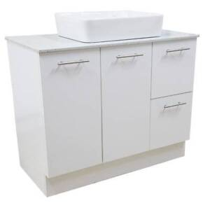 900mm Flat Pack Vanity Cabinet with Stone Top & Basin- F/Standing Braybrook Maribyrnong Area Preview