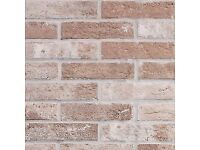 BRICK EFFECT, PORCELAIN TILE BRISTOL RUST - Frost Proof and Anti-Slip Rating!