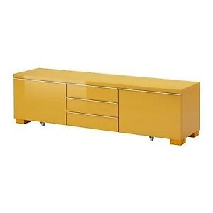 Ikea Besta Burs TV stand  - Yellow